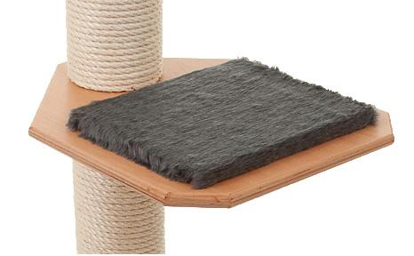 Holzfarbe: Buche - Auflage: Dunkelgrau