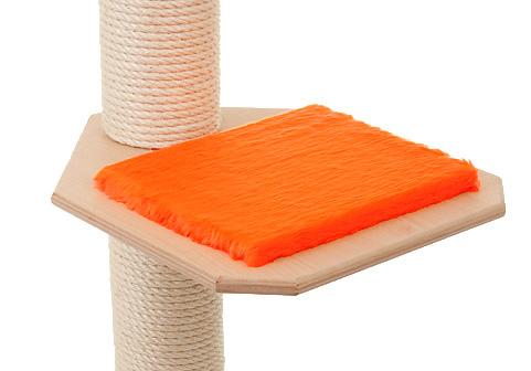 Holzfarbe: Natur - Auflage: Knallorange