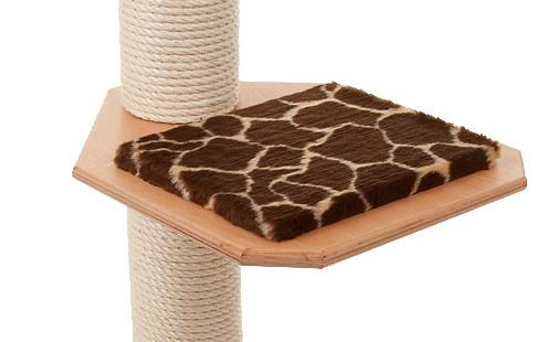 Holzfarbe: Buche - Auflage: Giraffe