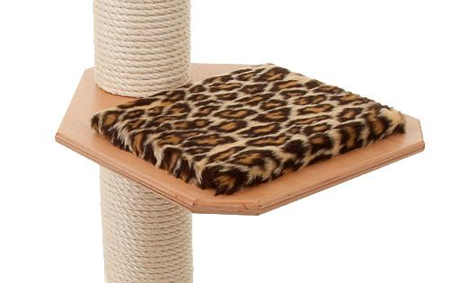 Holzfarbe: Buche - Auflage: Leopard