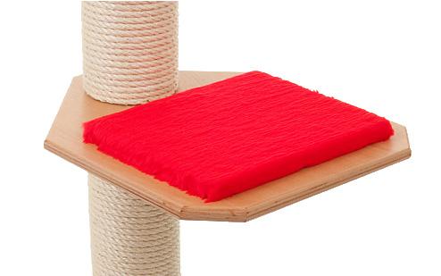 Holzfarbe: Buche - Auflage: Rot