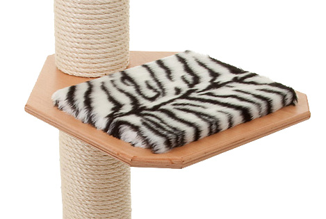 Holzfarbe: Buche - Auflage: Tiger-Weiss