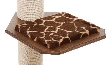 Holzfarbe: Dunkelnuss - Auflage: Giraffe