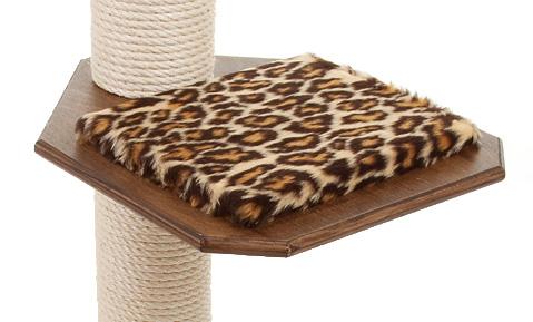 Holzfarbe: Dunkelnuss - Auflage: Leopard