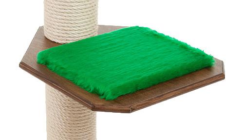 Holzfarbe: Dunkelnuss - Auflage: Tannengrün