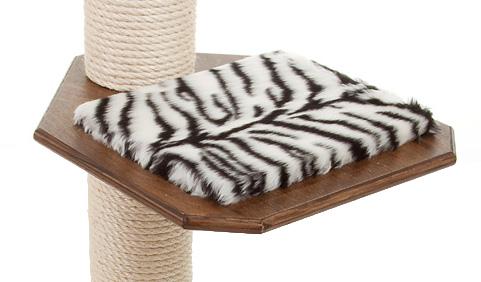 Holzfarbe: Dunkelnuss - Auflage: Tiger-Weiss