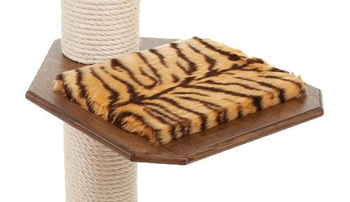 Holzfarbe: Dunkelnuss - Auflage: Tiger