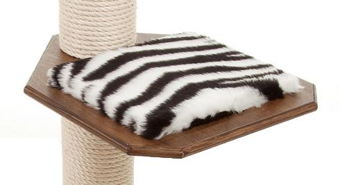Holzfarbe: Dunkelnuss - Auflage: Zebra
