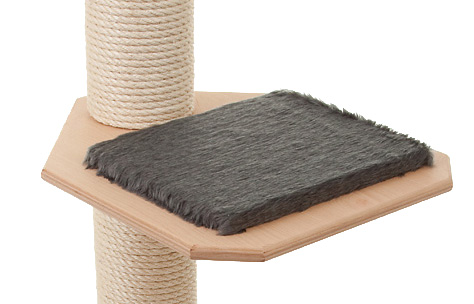 Holzfarbe: Natur - Auflage: Dunkelgrau