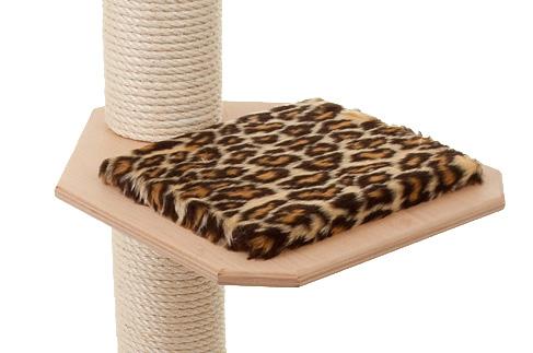 Holzfarbe: Natur - Auflage: Leopard