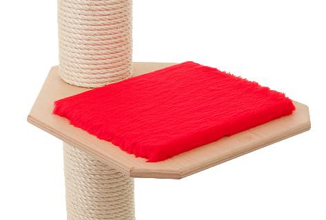 Holzfarbe: Natur - Auflage: Rot