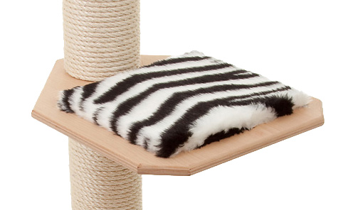 Holzfarbe: Natur - Auflage: Zebra